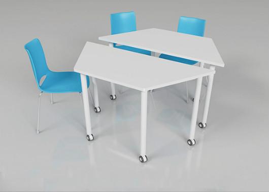 白色可移动洽谈桌 时尚拼接洽谈