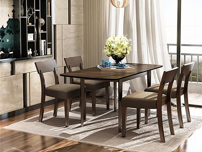 现代时尚餐厅桌椅 4人长条形桌椅 CT150905