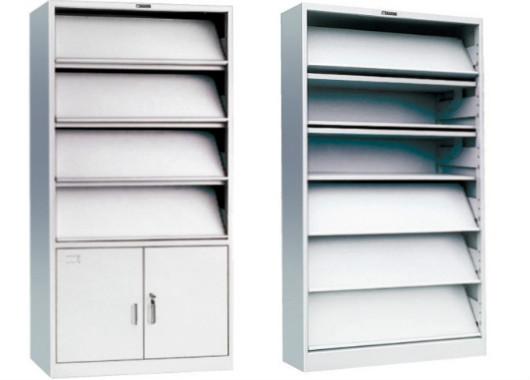单面阅览架 带柜子展示架/展示柜