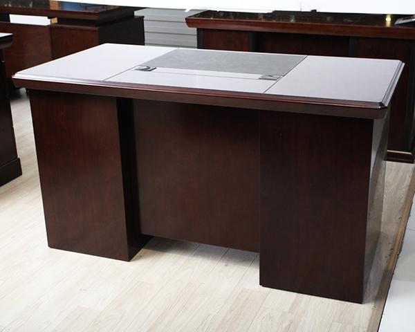 实木贴皮电脑桌 财务室电脑桌