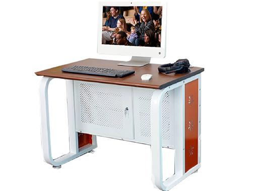 独立式网吧电脑桌 金属钢架电脑