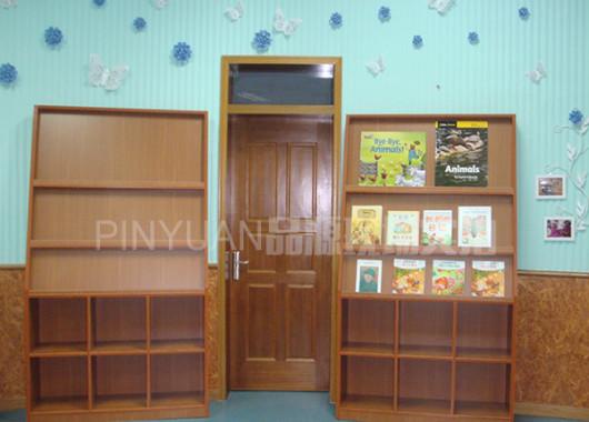 木质期刊架 图书馆书籍展示架/展示柜 书店新书架 SJ151101