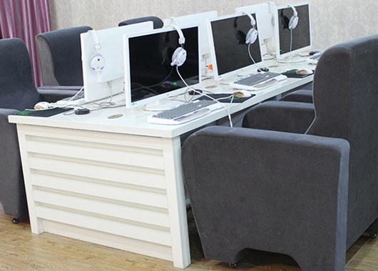 网吧电脑桌沙发组合 简约防火板电脑桌 DNZ110602