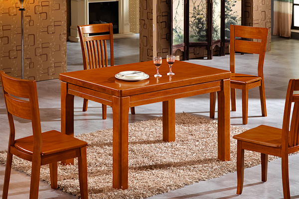 中式长方形餐桌椅 餐厅家具定制