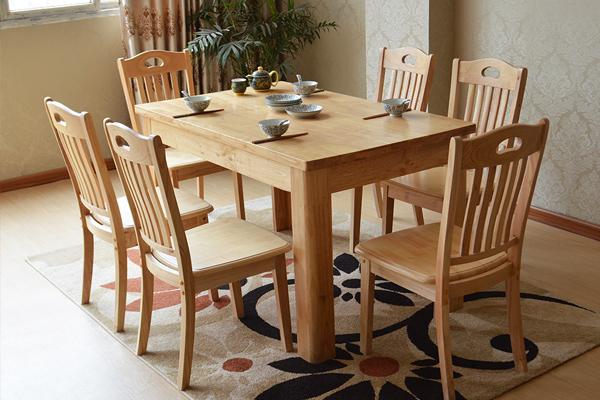 木色餐台椅组合 简约配套餐桌椅