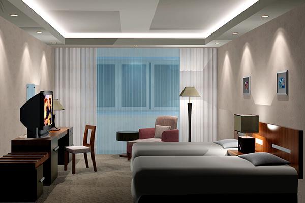 宾馆客房家具 中档酒店家具 JD151108
