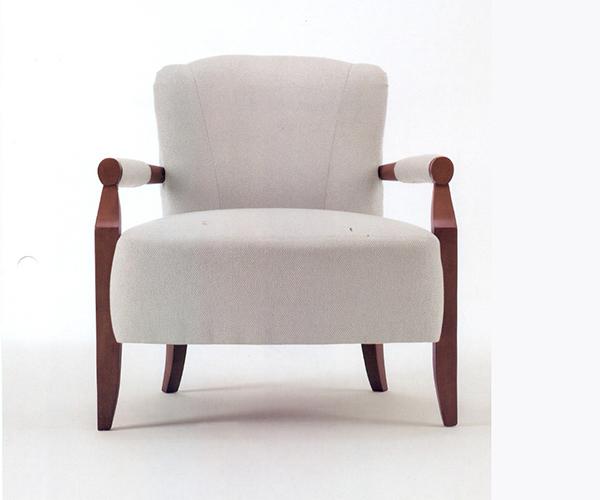 酒店白色沙发椅 酒店客房沙发 JD151116