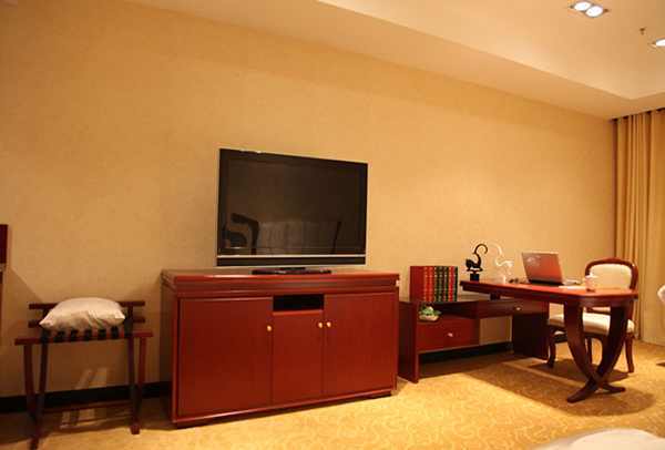 商务酒店客房写字桌 写字台侧柜