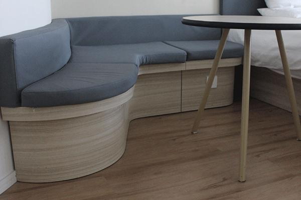 客房休闲区家具 现代简约卡座沙
