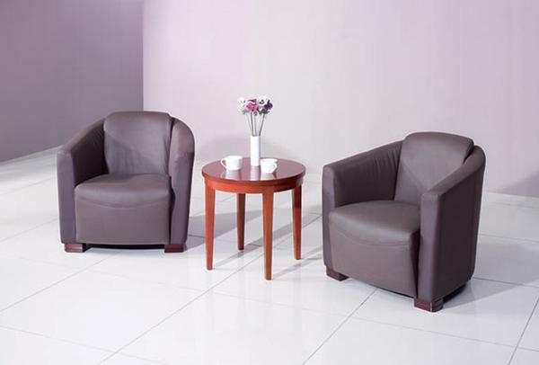 舒适皮质沙发 洽谈沙发 JD151134