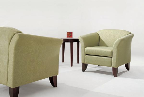 大堂沙发 单人绒布沙发 JD151138