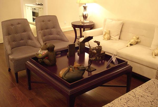 沙发茶几组合 米色布艺沙发 JD15