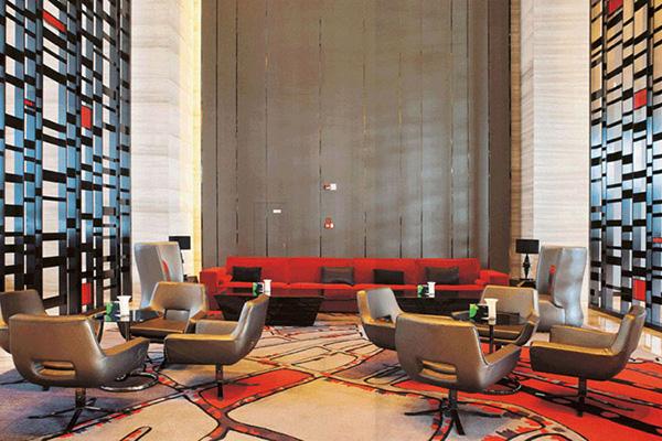 现代酒店大堂家具 沙发茶几搭配