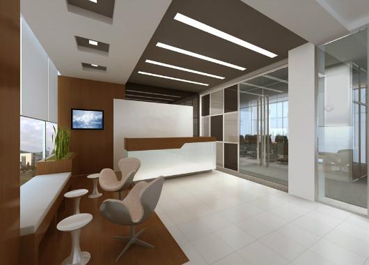 4s店办公前台 公司咨询办公前台 实木喷漆办公前台 QT16031403