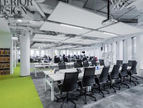 实木家具厂,办公空间的色彩设计