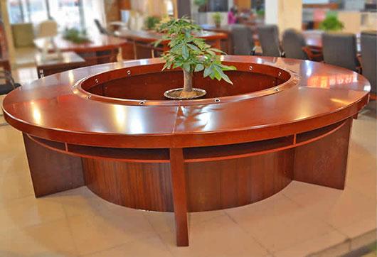 3米圆形会议桌 大型洽谈红小型实