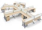 品源上海办公家具设计师推荐,多人位卡位办公桌