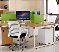 官方推荐组合-三人位弧形办公桌
