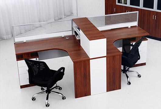 职员办公桌大全-两人位职员办公桌-职员办公桌置物架