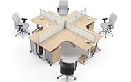 十字型四人位屏风 十字型屏风式办公桌 WXPF003