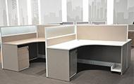 高档办公室工作位隔断 PF150924