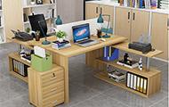 6人位职员办公桌带双柜大型员工桌屏风工作位 pf171115