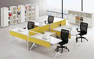 F型四人位办公桌 WXPF002