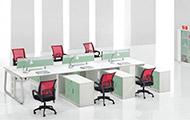 多人位办公桌组合带柜 WXPF013
