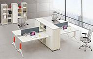 隔断办公桌铝合金腿 两个办公桌之间置物架 WXPF006