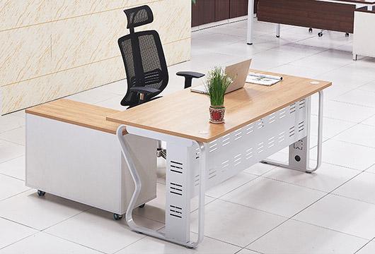 原木色办公桌 板式经理大班台 BT16033101