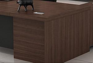 原木色办公桌细节图1