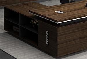 原木色办公桌细节图3