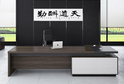 高档时尚油漆老板桌 实木总经理办公桌 WSBT036