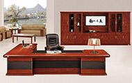 高端时尚简约大班台 实木油漆总裁桌 办公桌椅