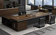 油漆实木贴皮大班台 高档大班桌办公桌