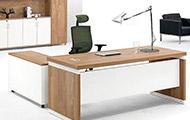 大班台L连体 转角办公桌带柜子 办公班台 老板桌