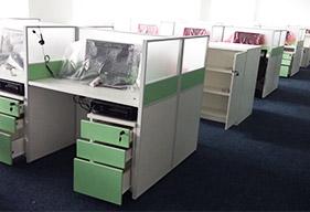 电话客服办公区办公家具设计