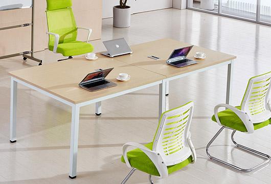 钢架板式会议桌- 简约白色板式会议桌
