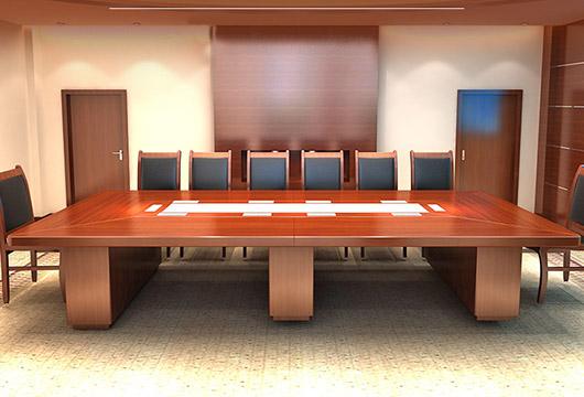 实木喷漆会议桌 长方形会议桌 10人会议桌 中型10人会议桌 hyzsm20170721005