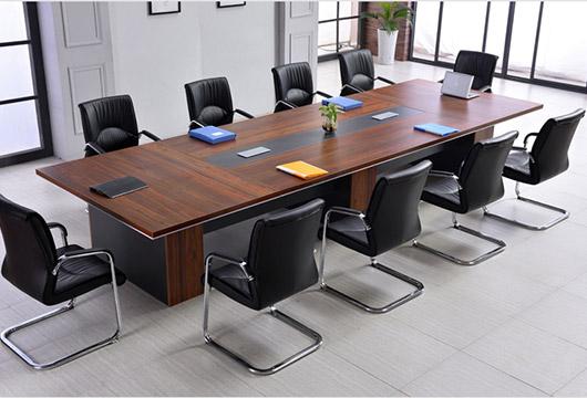 简约现代会客桌 板式时尚会议桌  矩形会议桌  板式矩形会议桌 hyzbs20170721006