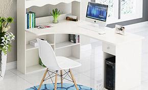 书柜一体电脑桌
