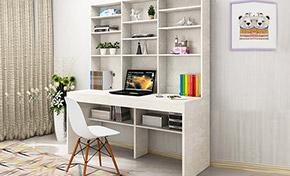 书架和电脑桌组合