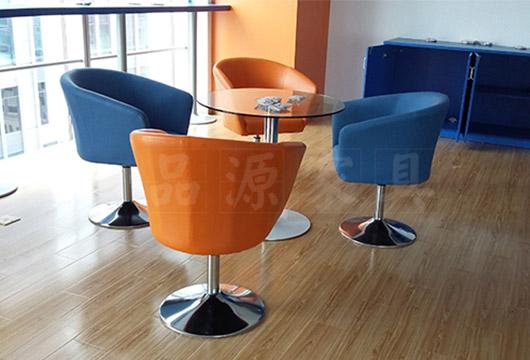 咖啡厅桌椅 上海酒吧餐桌椅 玻璃桌面餐桌椅 WCZY026