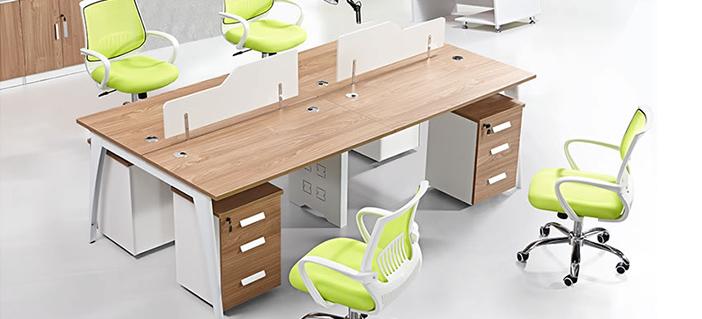 四人位公司办公桌样式