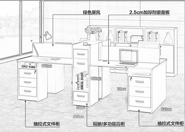 宜家办公桌尺寸
