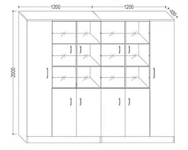 实木落地文件柜尺寸