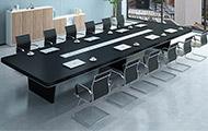 实木会议桌简约现代 大型董事会议桌椅