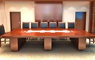 实木喷漆会议桌 长方形会议桌 10人会议桌