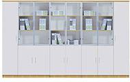 白色防火板文件柜 高文件柜