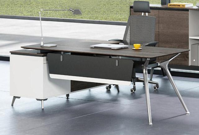 钢架式现代老板办公桌-现代老板办公桌